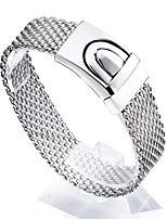 Браслеты Браслеты-цепочки и звенья Нержавеющая сталь Геометрической формы Мода Бижутерия Подарок Серебряный,1шт