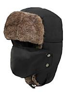 Chapka Hat / Fur Hat Ski Hat Women's / Men's Thermal / Warm Snowboard Polyester Yellow / Gray / Black / OrangeSkiing / Camping / Hiking /