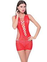 Women's Suits Nightwear,Sexy Jacquard-Thin Nylon Spandex