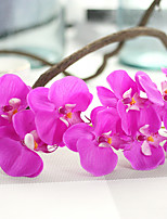 1PC  Household Artificial Flowers Sitting Room Adornment  Flowers  Polyester Orchids Artificial Flowers