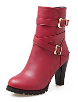 Women's Boots Fall / Winter Fashion Boots / Combat Boots / Round Toe Party & Evening / Dress / Casual Chunky Heel