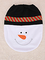 1pc Bow Tie Snowman Xmas Toilet Seat Cover Decoration Home Party Supplies Christmas Gift