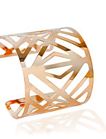 Cuff Bracelets 1pc,Fashionable Tube Golden / Silver Alloy Jewelry Gifts