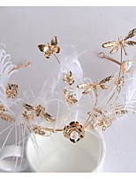Women's Alloy Headpiece-Wedding Tiaras 1 Piece Gold Flower