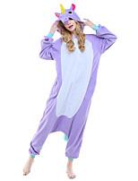 Kigurumi Caractéristiques / Mignon et câlin Polaire Collant/Combinaison Kigurumi Pyjamas Pyjamas animale Violet / Incarnadin / Bleu Ciel