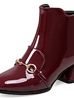 Women's Shoes Chunky Heel Square Toe Zip Ankle Boot More Color Available