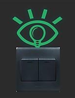 AYA™ DIY Creative Eye Luminous Stickers Super Bright Glow in the Dark Switch Sticker Wall Decor
