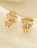 Earring Flower / Others Stud Earrings Jewelry Women Sexy / Bikini / Fashion / Adorable Wedding / Party / Daily / Casual Alloy 1 pair Gold