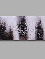 Stretched (Ready to hang) Hand-Painted Oil Painting 100cmx50cm Canvas Wall Art Modern Abstract Black White