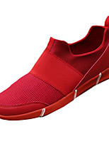 Men's Sneakers Spring / Fall Comfort Tulle Athletic Flat Heel Gore Black / Red / White Sneaker