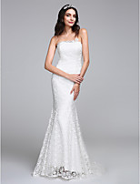 Lanting Bride® Trumpet / Mermaid Wedding Dress Sweep / Brush Train Strapless Lace with Lace