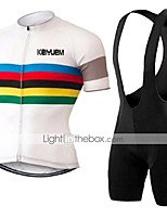 KEIYUEM® Summer Cycling Jersey Short Sleeves + BIB Shorts Ropa Ciclismo Cycling Clothing Suits #K120