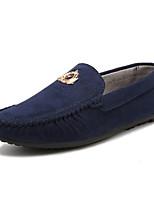 Men's Loafers & Slip-Ons Moccasin Leatherette Casual Flat Heel Slip-on Black / Blue / Green Walking EU39-43