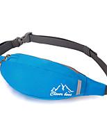 <20 L Waist Bag/Waistpack Camping & Hiking / Climbing Outdoor Waterproof / Wearable Black / Blue Terylene CleverBee