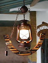 Kerosene Lamp Droplight Creative Bamboo Lamp Archaize Restaurant Cafe Bamboo Old Lantern Pendent Lamp