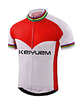 KEIYUEM® Cycling Jersey Women's / Men's / Unisex Short Sleeve BikeWaterproof / Breathable / Quick Dry / Anatomic Design / Rain-Proof /