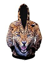 3D  Hoodie Long Sleeve Leopard Printing Clothing