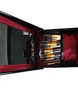 9 Makeup Brushes Set Goat Hair Professional / Full Coverage / Portable Wood Face / Eye / Lip