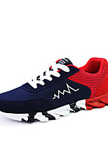 Running Shoes Men's Sneakers Spring / Fall Comfort Tulle Casual Flat Heel Black / Blue / Gray Running