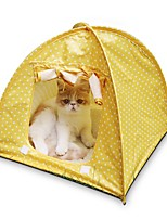 Cat Bed Pet Mats & Pads Tent / Casual/Daily Green / Pink / Yellow Terylene