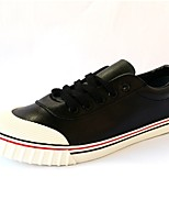 Men's Flats Spring / Fall Flats PU Casual Flat Heel Others Black / White Others