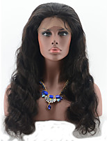 Lace Front Wig Cheap Natural Color Water Wave 100 % Virgin Brazilian Human Hair Front Lace Wig Fo人Black Woman