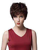 Elegant Layered Short Straight Capless Human Hair Wigs