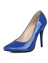 Damen-High Heels-Büro / Lässig-Lackleder-Stöckelabsatz-Absätze / Spitzschuh-Schwarz / Blau / Gelb / Grün / Rosa / Rot / Beige