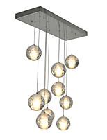 3watt Pendelleuchten ,  Zeitgenössisch Chrom Feature for Kristall Metall Wohnzimmer / Schlafzimmer / Esszimmer