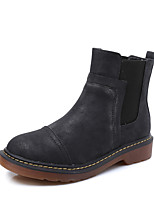 Women's Boots r Bootie / Round Toe / Closed Toe  Casual Flat Heel Others Black / Yellow / Gray Walking