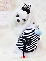 Собаки Плащи Белый Одежда для собак Зима / Лето / Весна/осень Классика / Полоски / Животный принтСвадьба / Праздник / Мода / Рождество /