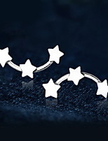 Earring Star Drop Earrings Jewelry Women Fashion Daily / Casual Silver / Sterling Silver 1 pair Silver