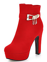 Women's Boots Fall / Winter Fashion Boots / Round Toe Party & Evening / Dress / Casual Chunky Heel Buckle / Zipper