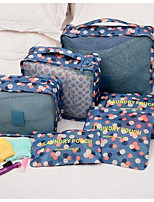 The New Printing Korean Travel Admission PackageLarge Capacity Storage Bag 6 Set Houseware