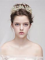 Mulheres Liga Capacete-Casamento Tiaras 1 Peça Dourado Flôr 40