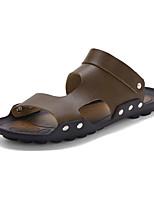 Sapatos Masculinos-Sandálias-Preto / Marrom / Vermelho-Borracha-Casual