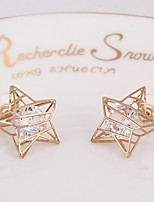 Earring Star Stud Earrings Jewelry Women Fashion Daily / Casual Alloy 1 pair Gold