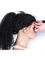 6а 120% плотность бразильца кудрявый фигурная фронта шнурка человеческих волос парики курчавые курчавые парик шнурка 26