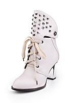Chaussures Femme-Bureau & Travail / Habillé / Décontracté-Noir / Marron / Gris-Gros Talon-Rangers / Bout Pointu / Bottes à la Mode-Bottes-