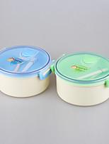 yooyee бренд лучше всего круглая форма двойной слой / двойной отсек микроволновой печи изолированный коробка для завтрака