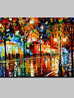 Modern Abstract Hand-painted Landscape Oil Paintings On Canvas Wall Art With Stretched Frame Ready To Hang 80x120cm