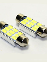 10pcs Canbus 9SMD 5630 36MM White LED Dome Interior Courtesy Licence Plate Light(DC12V)