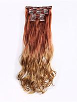 rizado ombre alta temperatura sintética del pelo postizo 24