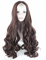 synthétique perruque brune longs ondulés cheveux noirs pleine perruque afro perruque de cheveux américain cosplay perruque de 2016 femmes