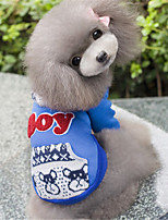 Dog Hoodie Blue / Gray Winter / Spring/Fall Solid / Letter & Number Casual/Daily Dog Clothes / Dog Clothing-Other