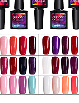 Modelones 5Pcs UV Gel Nail Polish Soak Off Colors Gel Nail Art Tools Manicure