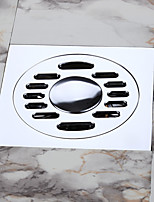 Bathroom / Washing Machine Floor Drain, Contemporary / Chrome / Solid Brass