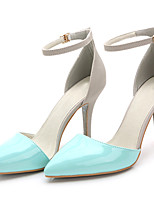 Women's Sandals Summer Heels / Pointed Toe Patent Leather Party & Evening / Dress / Casual Stiletto Heel Buckle