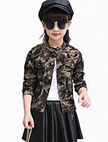 Completo e giacca / Giubbino e cappotto Girl Casual Con stampe Cotone / Poliestere Per tutte le stagioni / Primavera / Autunno Marrone