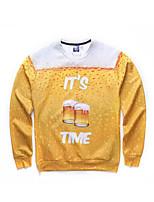 3D  Hoodie Printing Beer Clothing Long Sleeve Print Cosplay Costumes Geeky Clothing Round Halloween
